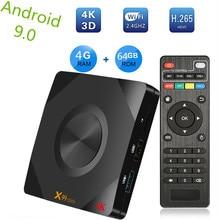 лучшая цена X99 mini Allwinner H6 Smart Android 9.0 TV Box 4GB RAM 64GB 32GB 16GB H.265 Wifi Media player 4K for Google Youtube Set Top Box