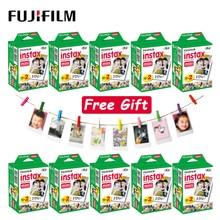 10  100 ورقة Fujifilm Instax Mini LiPlay 11 9 8 7s 70 90 LINK SP 2 فيلم حافة بيضاء ورق طباعة الصور للكاميرا الفورية بولارويد