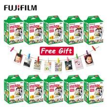 10  100 매 Fujifilm Instax Mini LiPlay 11 9 8 7s 70 90 링크 SP 2 필름 폴라로이드 인스턴트 카메라 용 흰색 가장자리 인화지