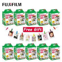 10  100 levhalar Fujifilm Instax Mini LiPlay 11 9 8 7s 70 90 bağlantı SP 2 Film beyaz kenar fotoğraf kağıdı Polaroid anlık kamera