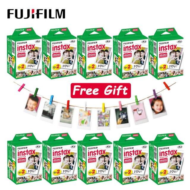 Фотобумага Fujifilm Instax Mini LiPlay, 10  100 листов, 11, 9, 8, 7s, 70, 90 звеньев, фотобумага с белыми краями для мгновенной камеры Polaroid