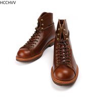 Spring New Top Quality Men Red Boots Fashion Genuine Leather Luxury Brand Wings Formal Ankle Boots Winter Motorcycle Boots