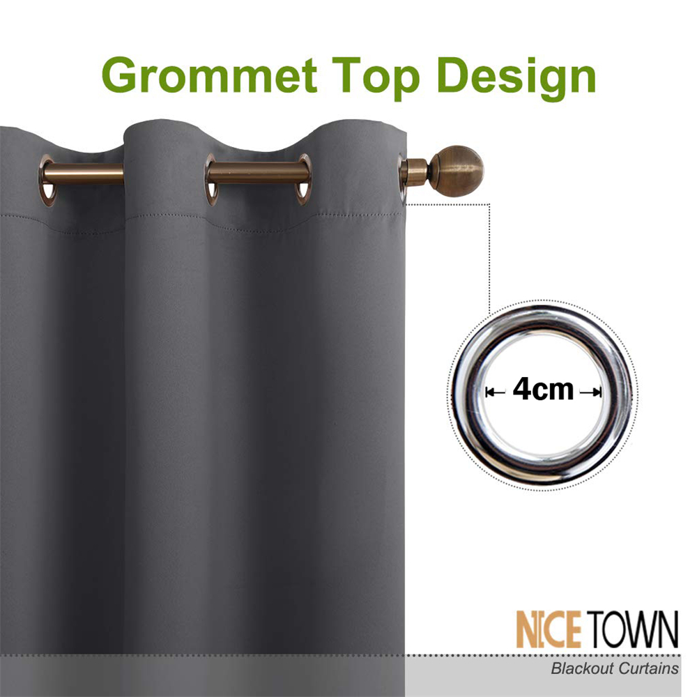 Nicetown Blackout Curtains Panels For Bedroom Window Treatment Thermal Insulated Solid Grommet Blackout Drapes For Living Room Curtain Panels Drapes For Living Roomblackout Drape Aliexpress