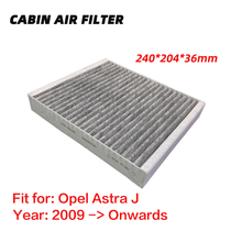 Cabin Filter for Opel Astra J (2009 Onwards) Activated High Carbon Pollen Air Filters,Better than original Vauxhall GTC 1pc