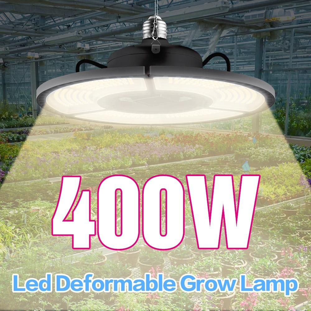 400W Grow Light LED E27 Seedling Plant Lamp Led Full Spectrum Sunlike Light Hydroponics Cultivate Bulb Warm White Growing Lights