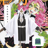 Anime Demon Slayer Kimetsu No Yaiba Cosplay Costumes Kanroji Mitsuri Cosplay Costume Halloween Kimono Cloth Blade Of Demon