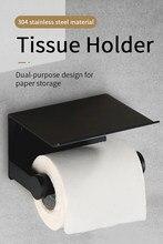 Espaço de alumínio banheiro toalete toalete suporte de papel suporte do telefone montagem na parede caixa rolo higiênico titular caixa de papel higiênico rack tecido bo