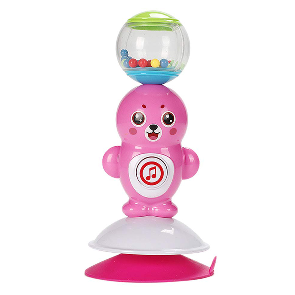 Baby Kids Educational Musical Toys Flower Ferris Wheel Rattle Suction Cup Base