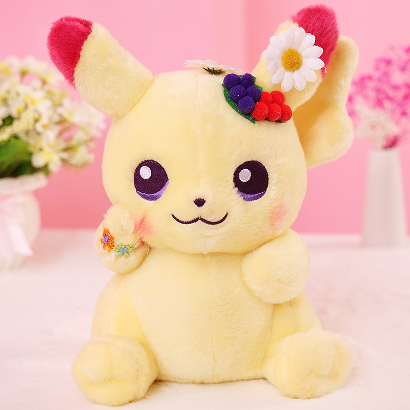 25cm Cute Pikachu Plush Toys Lovely Anime Plush Doll Children's Gift Kids Cartoon Peluche Pikachu Japan Anime Game Toys