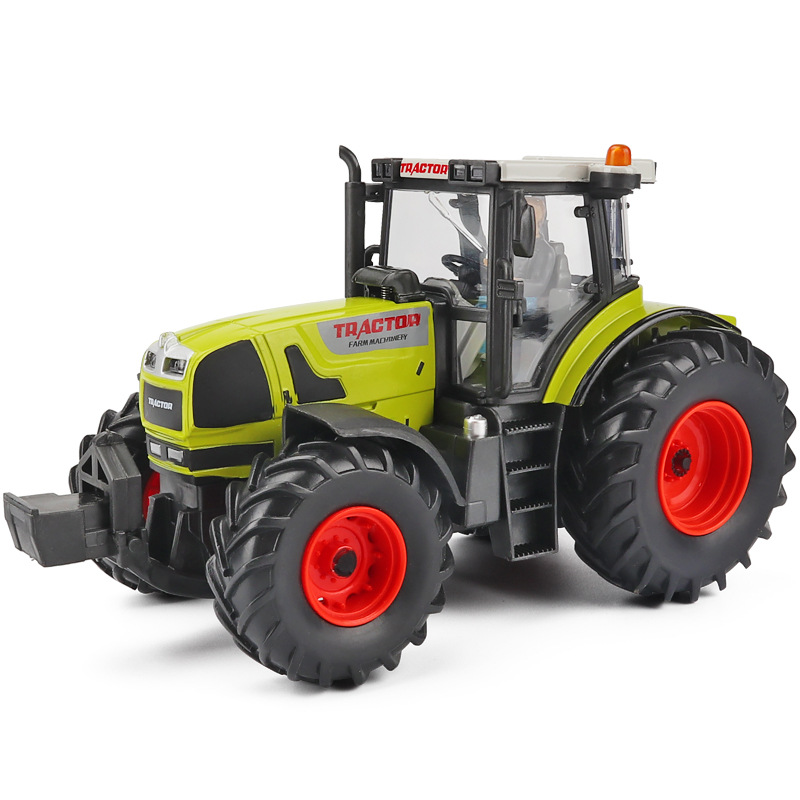 Simulation 1:32 Agricultural Tractor Alloy Model,die-casting Sliding Engineering Car Toy,exquisite Children's Gift,free Shipping