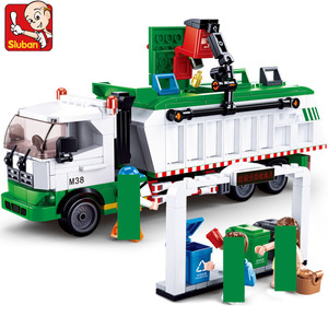 432Pcs City Garbage Classification Truck Car 100 Cards Building Blocks Sets Brinquedos Playmobil Educational Toys for Children(China)