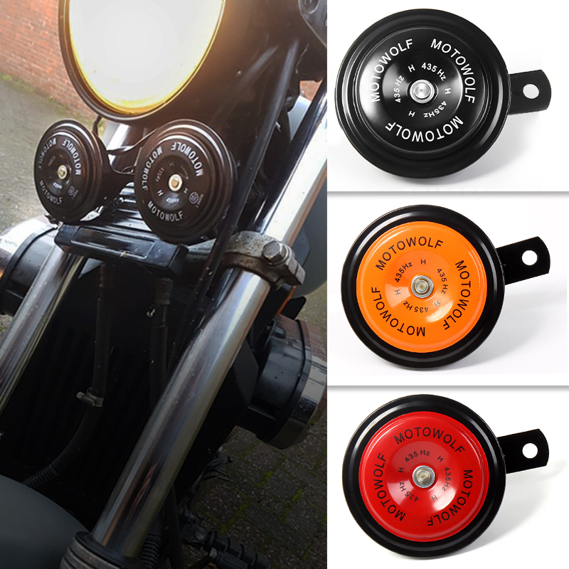 Motorcycle Horn Waterproof Moto Trumpet 12V Electric Round Loud Bell for <font><b>bmw</b></font> r 1250 gs k1200r g310gs <font><b>k100</b></font> k75 ninet gs 650 f800r image