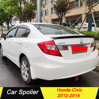 High Quality ABS Material Car Rear Wing Spoiler For Honda Civic 2012 2013 2014