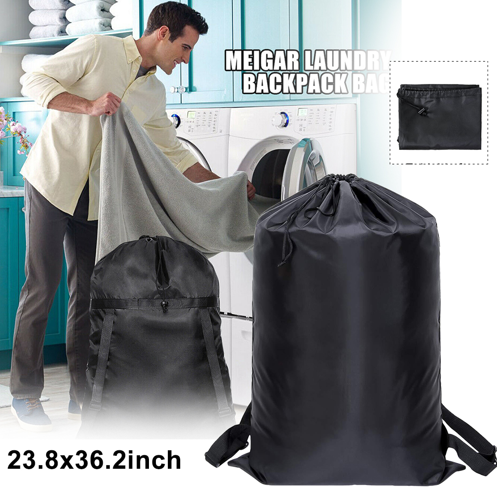 Foldable Drawstring Closure Washing Machines Home Tear-resistant Laundry Bag Camping Travel Storage Backpack For Dirty Clothes