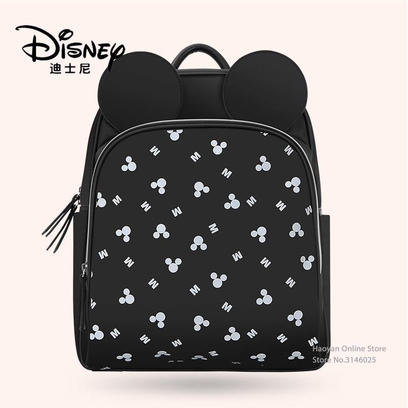 Disney Mommy Bag Multifunctional Mickey Large Capacity Backpack Baby Backpack Outing Waterproof Mother and Baby Bag