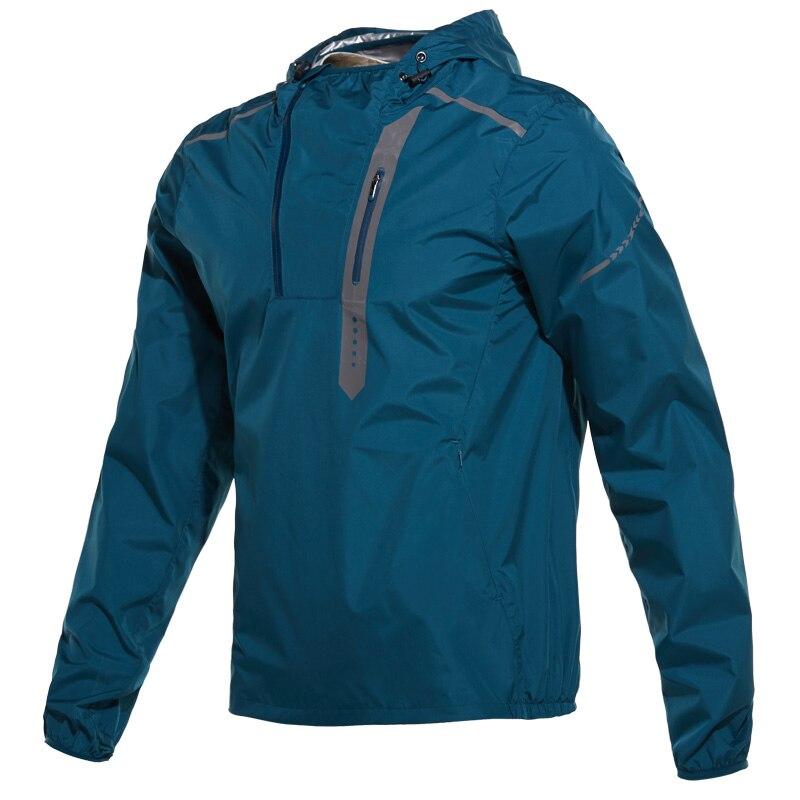 Hot Sweat Shapewear Sports Clothing Men Running Jacket Men Sports Jacket Sportswear Fitness Gym Jacket Reflective Windbreaker