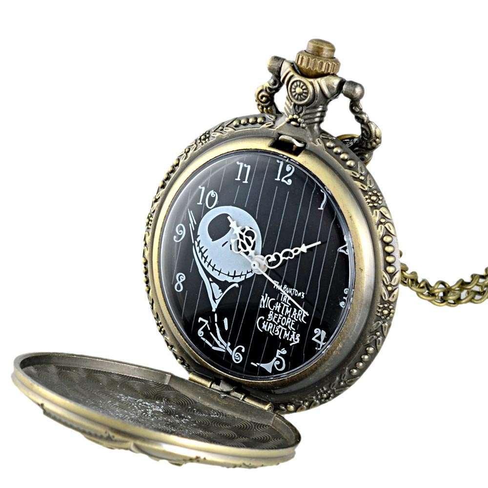The nightmare before Christmas women mens watches bronze watch (4)