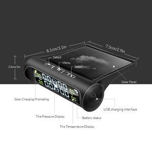 Image 5 - E ACE Солнечная энергия умный автомобиль TPMS система контроля давления в шинах цифровой дисплей Авто Охранная сигнализация системы давления в шинах