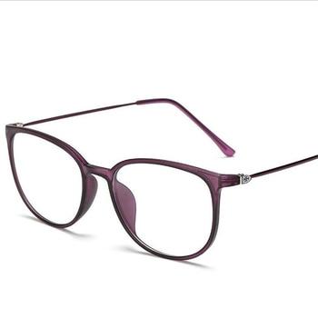 TR90 Round Nearsighted Eyeglasses Women Men Retro Oval Student Finished Myopia Glasses Prescription  -0.5 -0.75 -1.0 -1.5 To -6