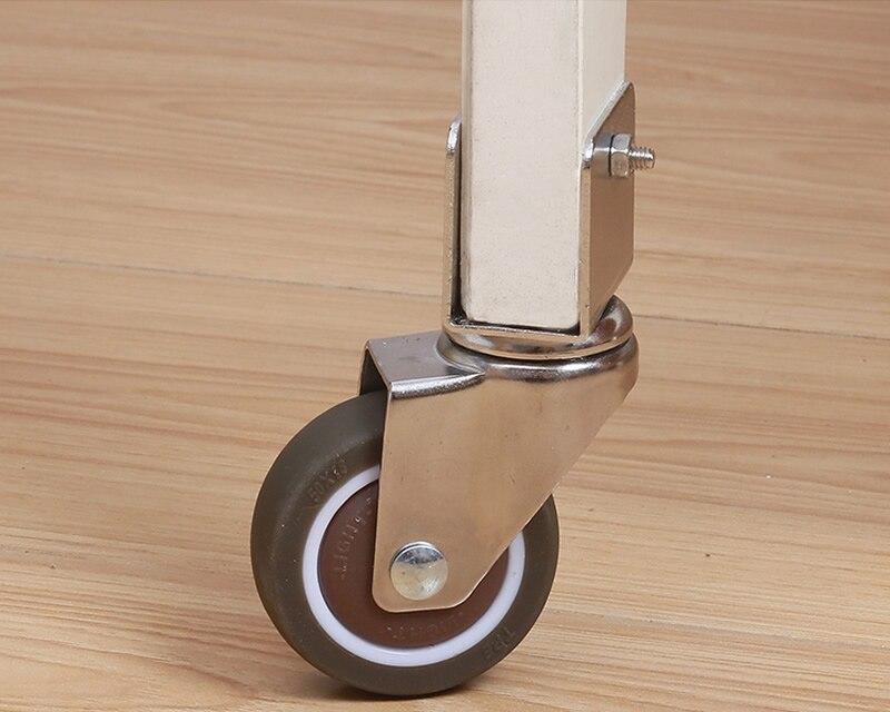 Rodas/rodízios super mute em forma de u, roda tpe, roda anti-envoltório, com rolamento, rodízios universais da cama do bebê, macios e silenciosos-2