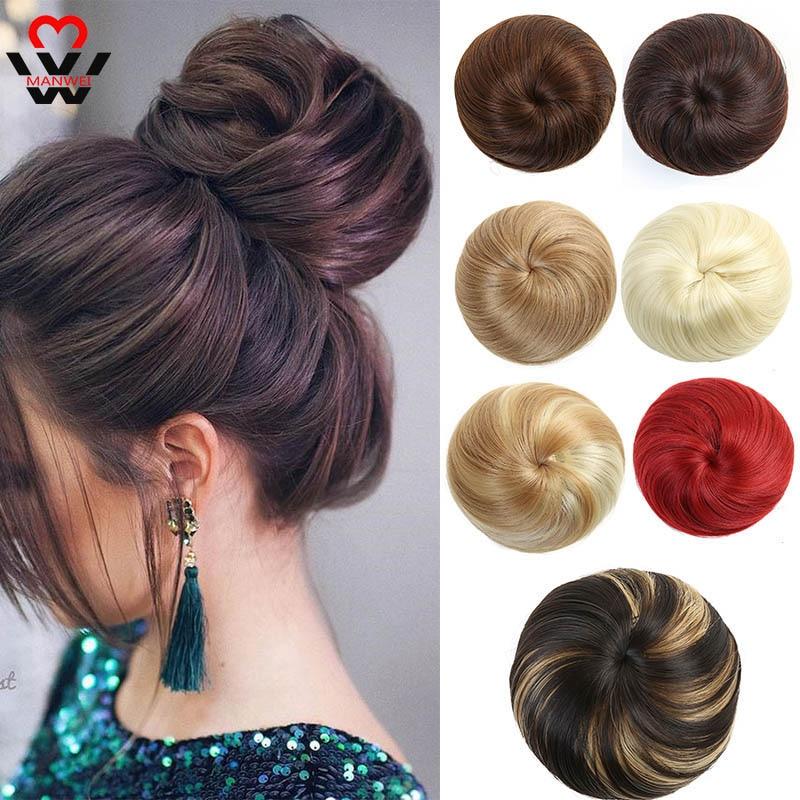 MANWEI uzantıları vardır kırpılmış yapay saç kuyrukları, çörek, düz çörekler, düz peruk ve ponytails