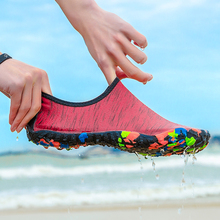 Shoes Water-Sport Sneaker Swim-Slippers Swimming Yoga Beach Women for Red Big-Size