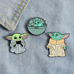 Baby Enamel Pin Custom Brooch Strong & Cute Soup Cup Adopt Box Badge for Bag Lapel Buckle Animal Jewelry Gift Fans