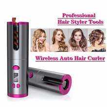 Professional Hair Curler Cordless USB Charging Ceramic Rotat