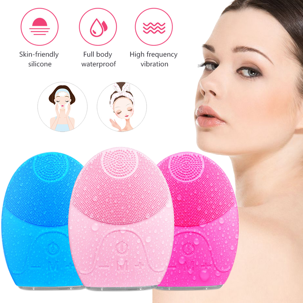 US $3.91 35% OFF|Electric Facial Cleansing Brush Waterproof Ultrasonic Silicone Face Cleansing Deep Pore Clean Massager Machine Skin Care Tools|Powered Facial Cleansing Devices| |  - AliExpress