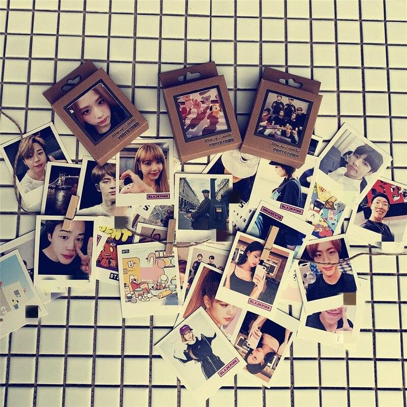 40pcs/lot KPOP Jin Jimin J-HOPE Blackpink Got7 Izone New Album Always Smile Photo Lomo Card Party Postcard Toy Gift