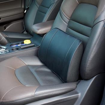 Кожа пены памяти поясничная подушка поддержки спины нижняя подушка офисное кресло автомобильное сиденье