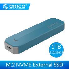 ORICO M2 NVME внешний SSD жесткий диск Портативный SSD 1 ТБ 128GB 256GB 512GB M.2 Накопитель SSD с протоколом NVME твердотельный накопитель с USB 3,1 type C