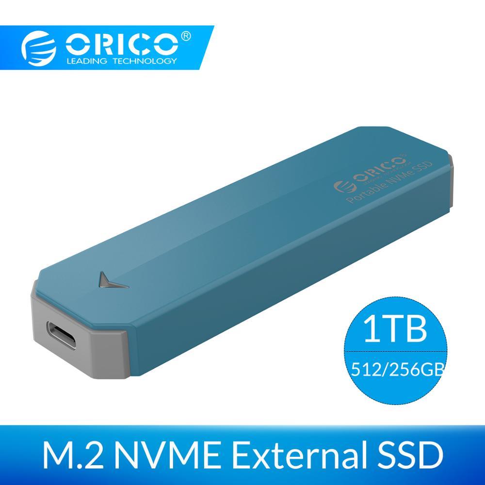 ORICO M2 NVME External SSD hard drive Portable SSD 1TB 128GB 256GB 512GB M.2 NVME SSD Solid State Drive with Type C USB 3.1