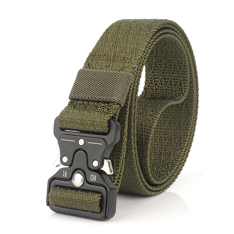 Fashion 3.2CM Wide Men Women Casual Belt Nylon Tactical Designer Army Belts For Jeans Pants Metal Buckle Thin Canvas Belt Hiking
