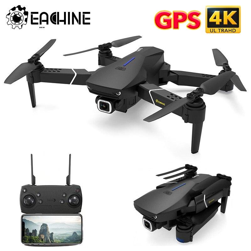 Eachine e520s gps siga-me wifi fpv quadcopter com 4 k/1080 p hd câmera grande angular dobrável altitude hold durável rc zangão