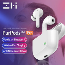 2021 nova zmi purpods pro primeiro do mundo bluetooth 5.2 verdadeiro sem fio fones de ouvido anc 3mic anti ruído à prova dwaterproof água no ouvido