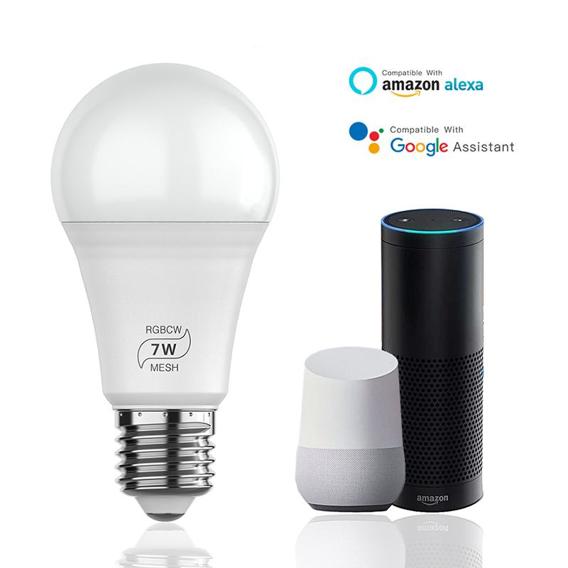 7W RGB E27 LED Smart Bulb Light Color Changing Dimmable Bluetooth APP Control ZE