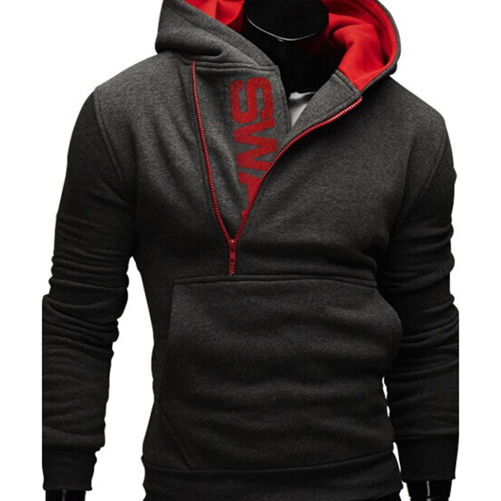 H0909b5c0c4c64742b1024c8ae19fc476X Sports Men Plus Size Slant Zipper Letter Hoodies Long Sleeve Hooded Sweatshirt