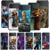 Smartphone Case For Samsung Galaxy Z Flip3 5G Z Flip 3 z flip ZF 5G Cover PC Capa Hard Funda Coque Marvel Avengers Groot Raccoon