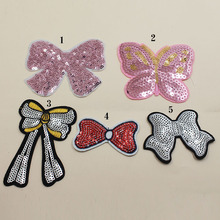 Bag-Accessories Clothing Embroidered Bow Bead-Piece Spot Sequins Buiter Diy Exquisite