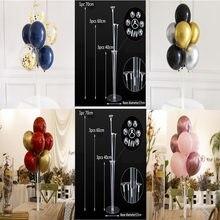 Balão suporte coluna confetes balões festa de aniversário feliz balões crianças chuveiro do bebê festa de casamento decoração suprimentos