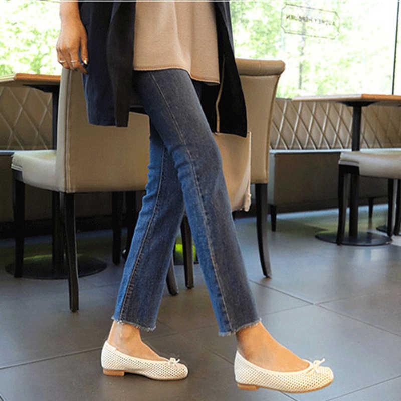 2019 printemps été nouveau taille haute Jeans grande taille 4XL mode Slim neuf pantalons Sexy Micro Bell pantalon Slim mince femme Stretch A6