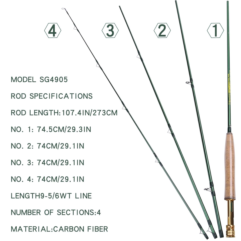Ультралегкие рыболовные удилища sougayilang 27 м lw 5/6 4 секции