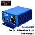 ティップトップ EL ArtNet1024 2 ポート双方向アートネット/DMX 標準の DMX512 出力 RJ45 ネットコネクタ Sulite/DMX LAN512