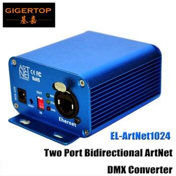 TIPTOP EL ArtNet1024 Two Port Bidirectional ArtNet/DMX Converter Standard DMX512 Output RJ45 Net Connector Sulite/DMX LAN512