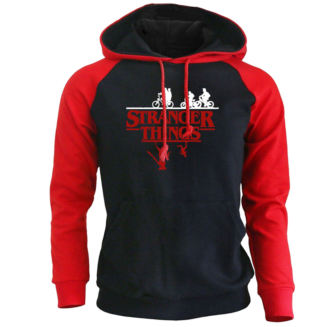 Mens Hoodies Stranger Things Streetwear 2019 Autumn Winter Fleece Raglan Hoodie Men Hip Hop Hooded Sweatshirts Harajuku Hoody
