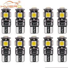 цена на 10pcs/lot T10 5 smd 5050 led Canbus Error Free Car Lights W5W 194 5SMD Error Free White LIGHT BULBS Change car-styling