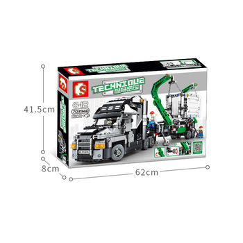 Technic Car Toys Compatible With Lepining mini 42078 Mack Big Truck Car Model Building Block Bricks Toys For Kids Christmas Gift 5