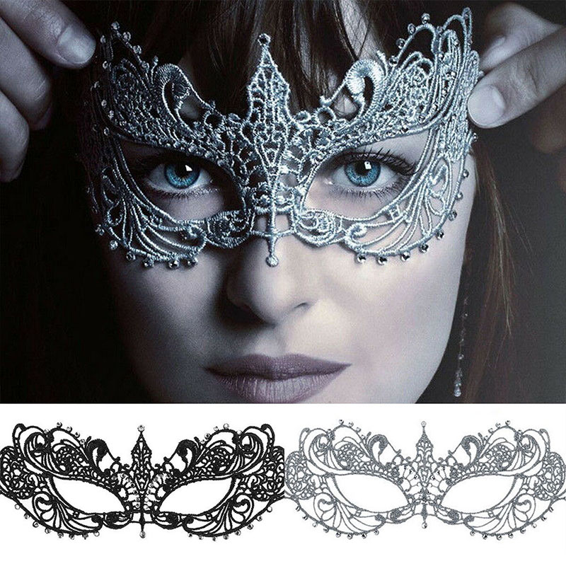 <font><b>Sexy</b></font> Lace <font><b>Mask</b></font> Masquerade <font><b>Halloween</b></font> <font><b>Masks</b></font> Party Cosplay Catwoman Eye Face Costumes Carnival Masque Prop Women Anonymous Mardi image