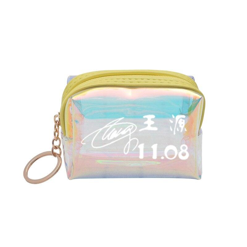 Wang Junwork Kai Wang Source Jackson Related Products Purse Laser Color Mini Wallet Pencil Case Students Storgage Bag